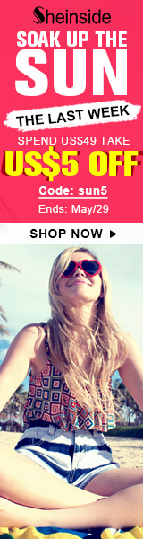 Soak up the sun with $5 off orders $49+ at Sheinside.com! Code: SUN5 ends 5/29