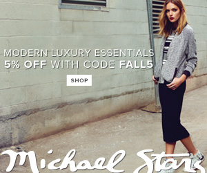 The City-Ready Fall Collection has Arrived at Michael Stars! Save 5% OFF Sitewide! Code: FALL5. Offe