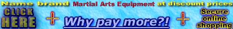 name brand Martial Arts Equipment, discount prices