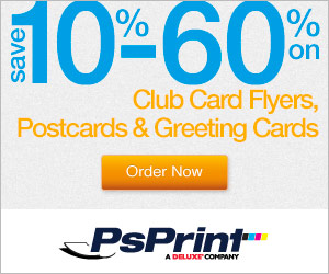 SAVE up to 60% Off on Printing at PsPrint!