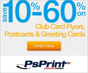 SAVE 25%-60% at PsPrint.com!