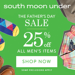 Father's Day Sale! 25% Off All Men's Items