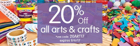 SSAVE 20% Off All Arts & Crafts Using Code: 20ART17 At DiscountSchoolSupply.com! Expires 8/6/17! Cli