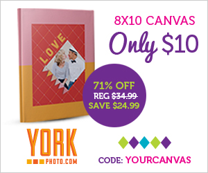 8X10 Canvas - Only $10 - 71% Off!