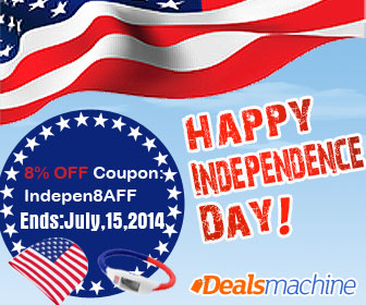 8% OFF Independence Day Coupon: Indepen8AFF. Ends: July,15,2014. Best Electronics, Dealsmachine.com.