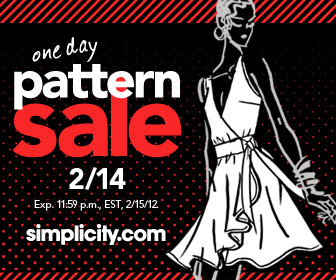 Simplicity.com Sweetheart Pattern Sale - VDay only