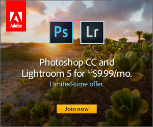 Limited Time Offer - Adobe Photoshop CC and Lightroom 5 for $9.99/mo