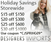 Save up to $30 at Designers Imports - CJSPRING09