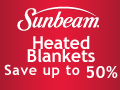 Sunbeam Heated Blankets. Save up to 50%