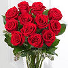 Flowersfast.com: One Dozen Red Roses in Vase