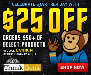 Celebrate Star Trek Day with $25 off -- use code LATINUM