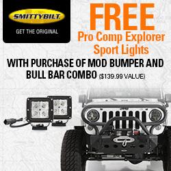M.O.D. Bumper comes with Pro Com Driving Lights