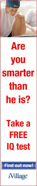 iVillage IQ Test - Are you smarter than he is?