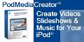 PodMedia Creator - Create Videos, Slideshows & Mus