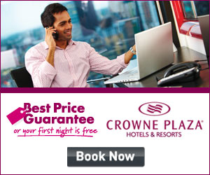 Book your hotel stay with Crowne Plaza's Best Price Guarantee or your first night is free!