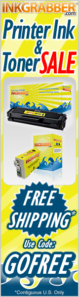 Free Shipping on Printer Ink & Toner Cartridges with code: GOFREE valid in the contiguous U.S. Only