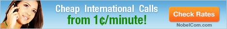 NobelCom Cheap international calls