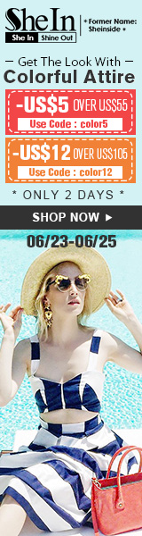 Get the look with colorful attire at SheIn.com! Take up to $12 off orders $105+, 2 days only!