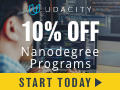 Upskil your career and get 10% off on a Udacity Nanodegrees Program