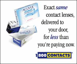 Exact same contact lenses for less.