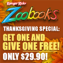 2-for-1 on Zoobooks, Zootles & Zoobies