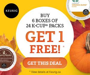 HALLOWEEN! Buy 6 boxes of 24 K-Cup packs Get 1 FREE! only at Keurig.ca