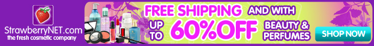 Free shipping and up to 60% off cosmetics