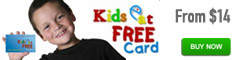 Kids Eat Free Card from $14!