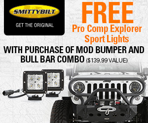 Buy the Smittybilt SRC Classic Rock Crawler Front Bumper with Winch Plate for $199.99 (Reg. $399.99)