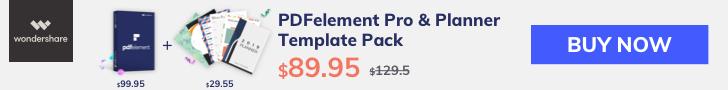 PDFelement 6 Pro & 10 Planner Templates Bundle Sale