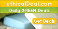 Daily Canadian Green Deals at ethicalDeal.com