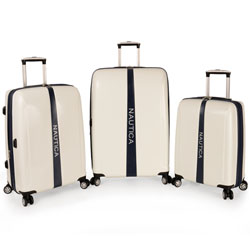 Nautica Landfall 3 Piece Hardside Spinner Luggage Set is now only $246.97! Org. $1,080.00 Plus Free Shipping Use Promo Code LDNT at checkout.