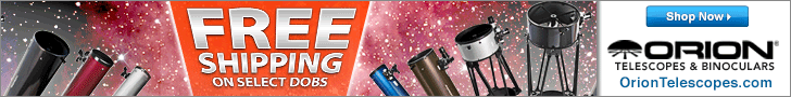 Free Shipping with Select Dobsonian Telescopes!
