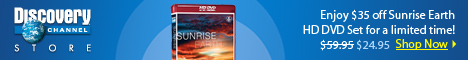 Sunrise Earth HD DVD Set $24.95!