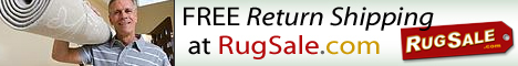 Free Return Shipping at RugSale.com