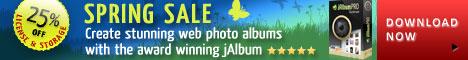 jAlbum Spring Sale 25% off