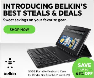 Belkin Steals & Deals Banner 300x250