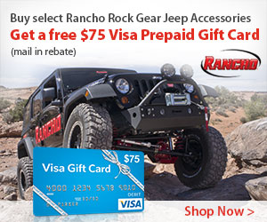 Get a $75 Visa PrePaid Card with purchase of select Rancho Rock Gear