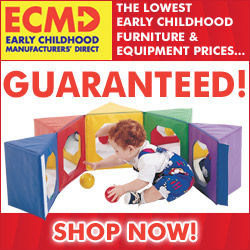 ECMD markets and sells the largest selection of early childhood furniture and equipment shipped direct from manufacturers to schools, preschools and early childhood programs. Shoppers receive the lowest prices on early childhood furniture and equipment GUARANTEED