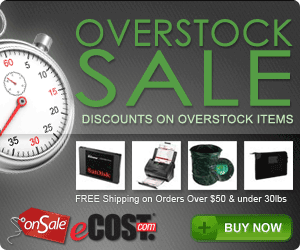 eCOST Overstock Sale: Huge Discounts on Overstocked Products w/ FREE Shipping on orders over $199 an