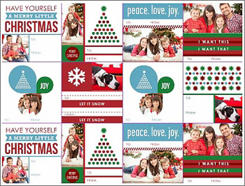Get photo-friendly Christmas gift tags from Smilebox