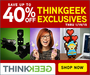 Save Up to 40% On ThinkGeek Exclusives