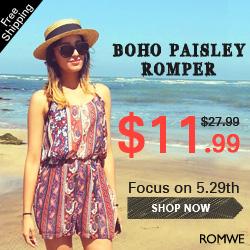 Romwe 24hr Sunny Spiker Bikini Flash Sale, 70% off!