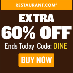 Restaurant.com Weekly Promo Offer 250 x 250