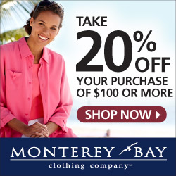 Monterey Bay Offer 15% off $60