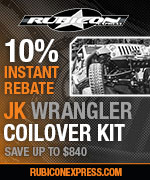 10% INSTANT savings on Rubicon Express JK Coilover Upgrade and Complete Kits.