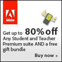 Free Shipping and Gift with Purchase in Adobe Edu