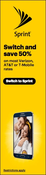 Switch to Sprint and save 50%