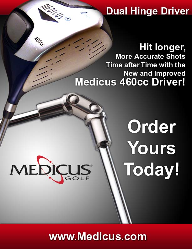 Medicus Dual Hinger Driver - Golf Training Aid