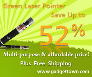 52% Off for Green Laser Pointer at GadgetTown.com